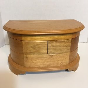 Asian Crafted Wooden Jewelry Box!